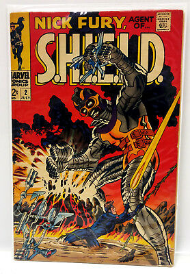 #2 NICK FURY AGENT of SHIELD 1960s Marvel Silver Age Comic Book- VG (NF-02)