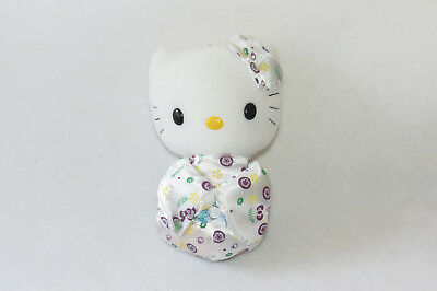Hello Kitty White Geisha Wedding Purple Flower Dress Plush Sanrio Doll Toy 7""