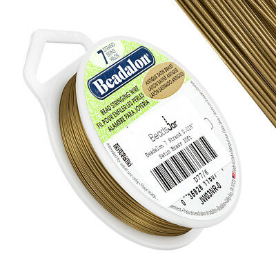 Arts & Crafts Beadalon 0.51 mm Diameter 9.2 m Reel 7 Strand Wire Bright Wire