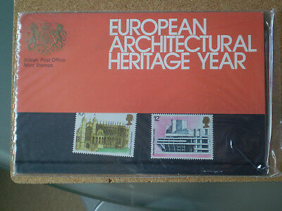 GB European Architectural Heritage Year 1975 mint stamps Presentation Pack 70