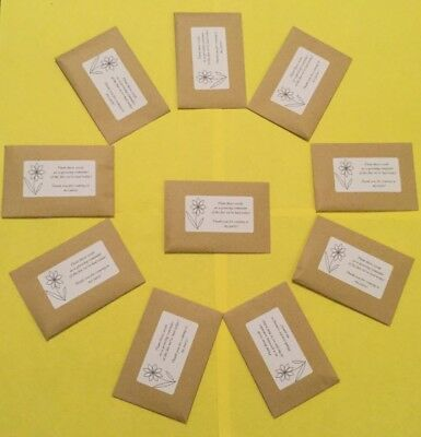 10 THANK YOU PARTY FILLER SUNFLOWER SEEDS PERSONALISED Favours Bags Birthday Fun