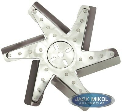 """Derale Performance Cooling Products  13"""" HP Stnless Steel Flex Fan (Chrm Hub/Rv"""