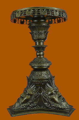Huge Sale European Greek Mythology Zeus Pedestal Table Display Bronze Sculptu