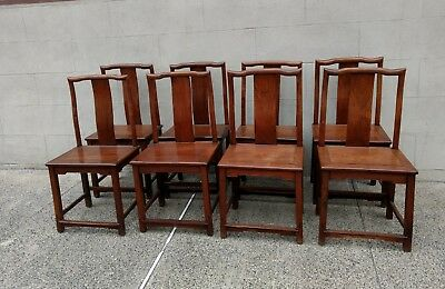 Set of 8 Chinese Hardwood Dining Chairs