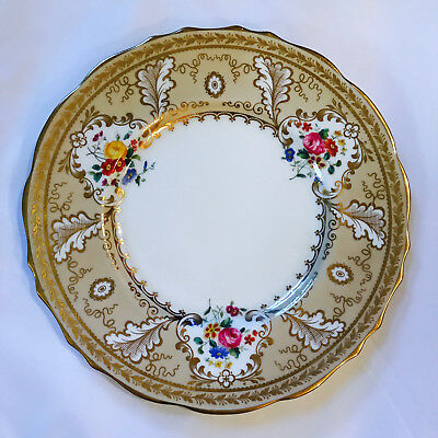 "Vintage Cauldon Ltd Brown-Westhead Moore & Co. For Tiffany 10-3/8"" Dinner Plate"