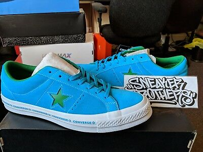 c7c9e5fd15d8c0 Converse One Star Woodmark FX Pinstripe Medium Blue Green Hawaiian Jolly  159813C