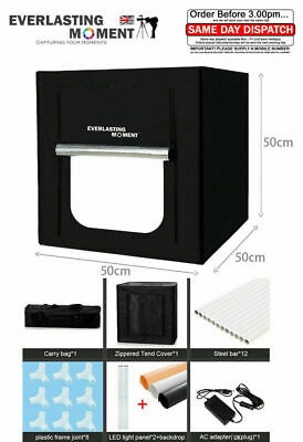 50*50*50CM Portable LED Photo Studio Lightbox Light Tent Photography Light Box