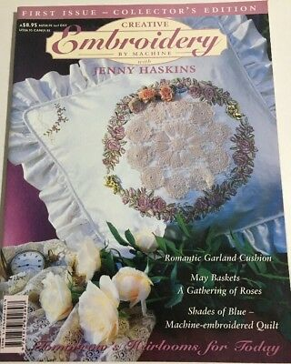 Creative Embroidery by Machine Book - Jenny Haskins - First Issue Collector's