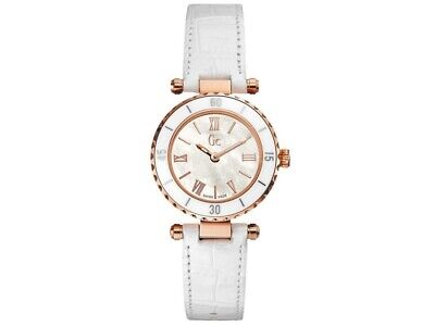 Guess X70033L1S Mini Chic Women's White Leather Bracelet With White Analog Dial
