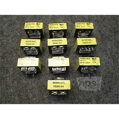 Lot of 10 Tamura 3FS-524 Mini-Transformers, Laminated Core, 115V, 0.5A