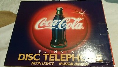 VTG Coca Cola  blinking disk neon lights musical ringer telephone phone wall