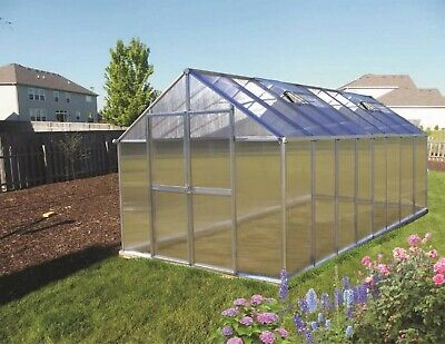 Monticello 8 x 16 Mojave Greenhouse in two finishes