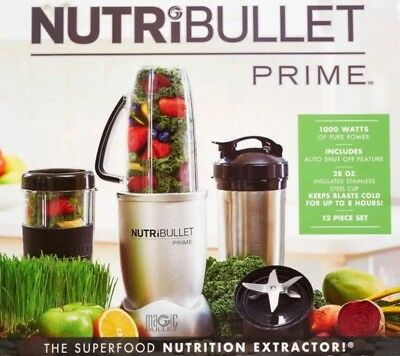 GENUINE NutriBullet Prime 1000W 12-Piece High-Speed Blender Mixer Free Fast Post