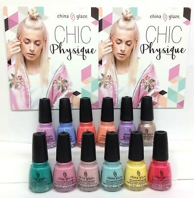China Glaze Nail Lacquer CHIC PHYSIQUE 2018 Collection - Choose Any Color