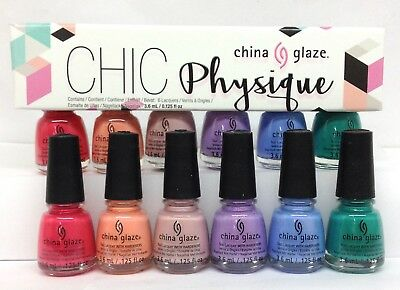 China Glaze Nail Lacquer  - MINI CHIC PHYISIQUE - 6 Colors x 3.6ml/0.125oz