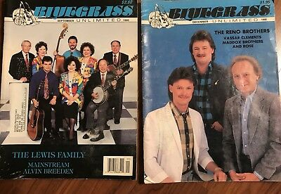 Vintage Lot Of 13 Bluegrass Unlimited Country Music Banjo