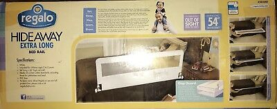 Regalo Hideaway Extra Long Bed Rail White Child Protection Safety Sleep Barrier