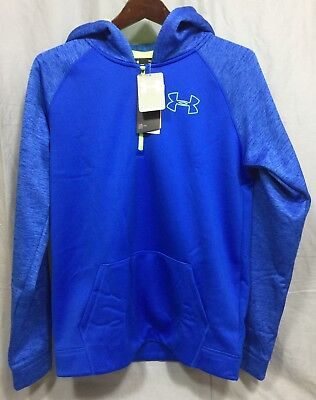 Under Armour Ultra Blue UA Storm 1/4 Zip ColdGear Boys' Loose Hoodie Youth XL