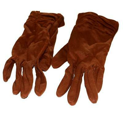 Vintage Mambo nut brown size 7.5 ladies 1950s gloves in good condition