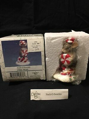 """Charming Tails """"Stack Of Sweeties"""" 98/209 Special Edition 1998 Fitz & Floyd"""