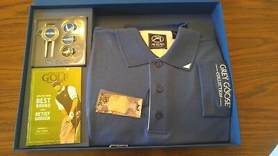 Grey Goose Collection Golf shirt. Money Clip Golf Marker Gift Box Large