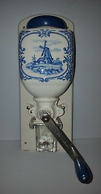 Zassenhaus Delft Wall Mounted Coffee Grinder Made In Germany 33Cm H ~14Cm W Exc