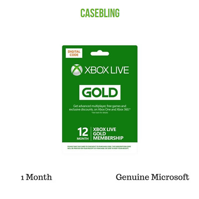 Xbox Live 1 Month Gold Membership Genuine Microsoft