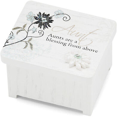 Mark My Words 2-3/8in Long Keepsake Box, Aunt Sentiment