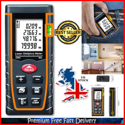 Handheld Lazer Measure Up To 60M LCD Backlight Portable Laser Distance Measure