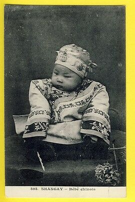 cpa Old Postcard RARE 1900 CHINE CHINA SHANGHAI BÉBÉ CHINOIS CHINESE BABY