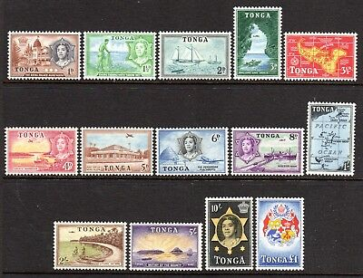 1953 TONGA PICTORIALS DEFINITIVES SG101-114 mint very light hinged / some muh