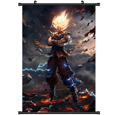 "Hot Japan Anime Dragon Ball Z Goku Home Decor Poster Wall Scroll 8""x12"" FL960"