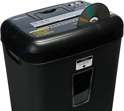 AmazonBasics 12 Sheet Cross-Cut Paper/CD/ Credit Card Shredder, Black