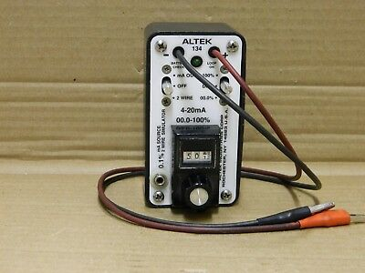 Altek 134 Calibrator Miliamp Output 4-20mA 2-Wire