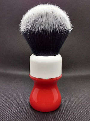 yaqi shaving brush synthetic  26mm high quality bristles red and white handle