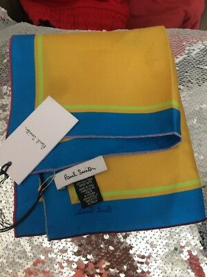 Paul Smith Silk Square Scarf Handkerchief Bnwt Italy
