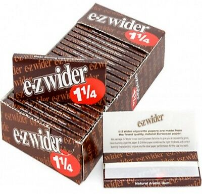 12 Packs ( E-Z EZ Wider 1.25 1 1/4 ) Rolling Paper Papers