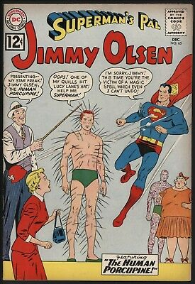 Jimmy Olsen #65  Dec 1962 Glossy Cents Copy With Off White Pages - Good Value