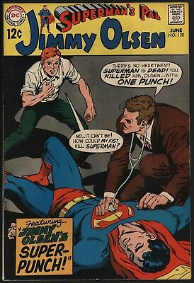 Jimmy Olsen #120 Very Glossy Cenys Copy With White Pages From Original Owner