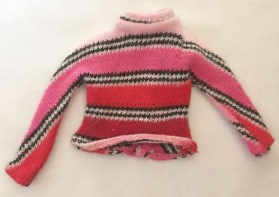 Vintage Barbie Francie Groovy Get Up Striped Knit Top RARE  208-39