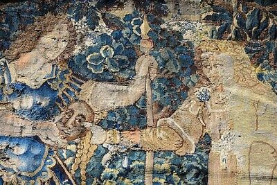 Large Flanders Aubusson Tapestrie 1620 Stumpwork Gobelins Tapestry Embroidery