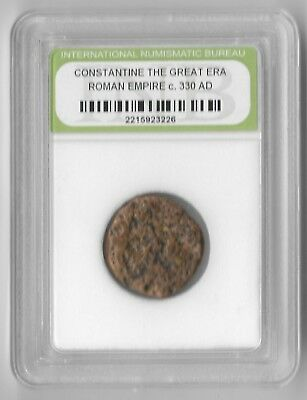 Rare Old Ancient Antique CONSTANTINE GREAT Roman Empire Era Invest War Coin Y14