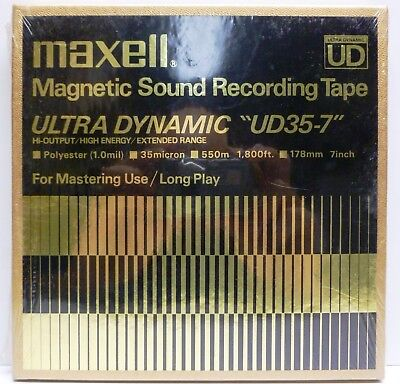 Sealed Maxell Ultra Dynamic UD35-7 Magnetic Sound Recording Blank Tape Long Play