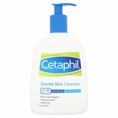 Cetaphil Fragrance Free Dry & Sensitive Gentle Skin Cleanser, 473 ml Pump Bottle