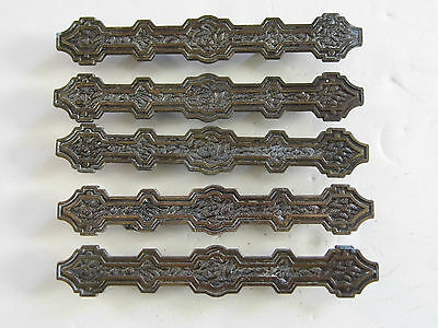 Lot of 5 Antique Vintage Pulls Japan Handles Cabinet Door Drawer Parts Pieces