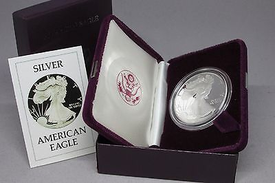 1986-S American Silver Eagle 1 Oz Proof Coin US Mint With Box & COA - SHIPS FREE