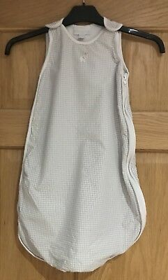 The Little White Company Sleeping Bag In Grey & White Size 0-6 Months Tog 0.5