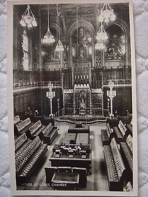 Vintage Postcard BW House of Lords Chamber Unused