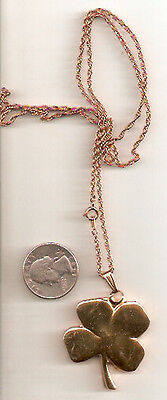 Goldtone Four Leaf Clover Necklace 24 inch chain LAST ONE! Jewelry