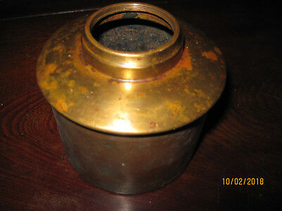 Small Antique Bradley Hubbard Brass Oil Lamp Font